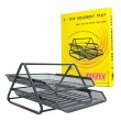 ALFAX 376 2 Tier Mesh Letter Tray Black
