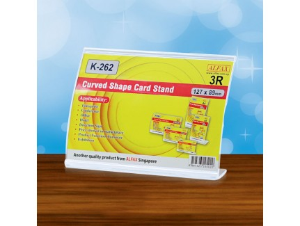ALFAX K262H Curved Shape Card Stand (3R)