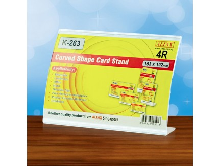 ALFAX K263H Curved Shape Card Stand (4R)
