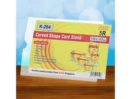 ALFAX K264H Curved Shape Card Stand (5R)