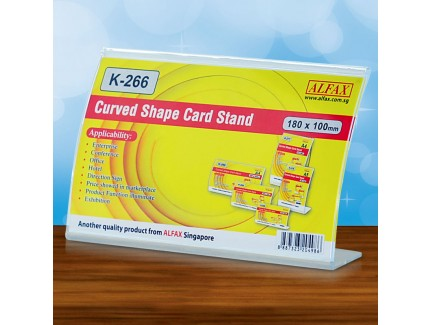 ALFAX K266H Curved Shape Card Stand