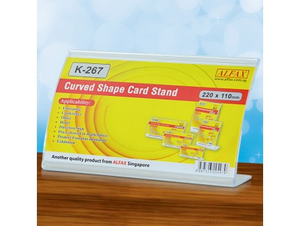 ALFAX K267H Curved Shape Card Stand