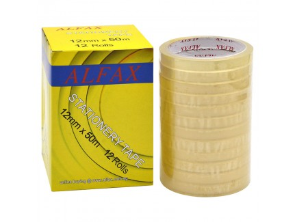 ALFAX 1250N Stationery Tape 12mm x 50m
