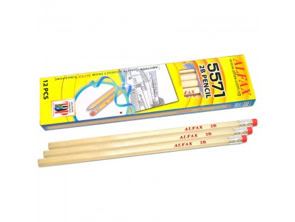 ALFAX 5571 Pencil With Eraser 2B 12's