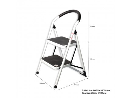 ALFAX 1102A 2 Step Round Handle Ladder